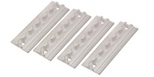 aluminium lashing rail tracker, 4 pc/15 cm a set Q-TECH